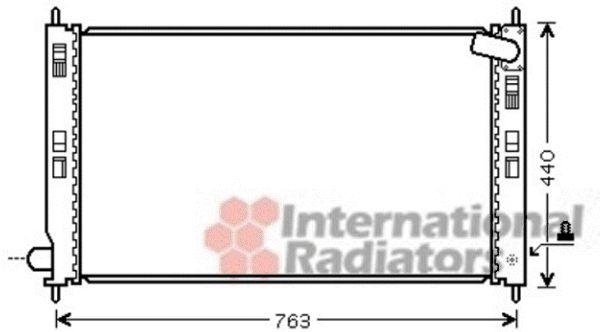 Radiateur, refroidissement du moteur - VAN WEZEL - 32002201