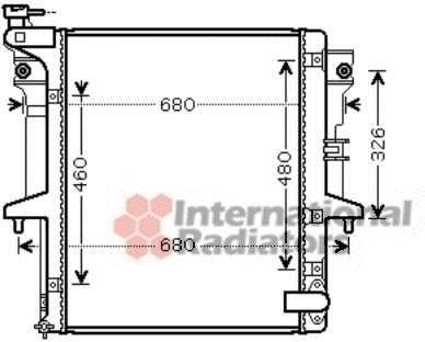 Radiateur, refroidissement du moteur - VAN WEZEL - 32002202