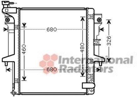 Radiateur, refroidissement du moteur - VAN WEZEL - 32002203
