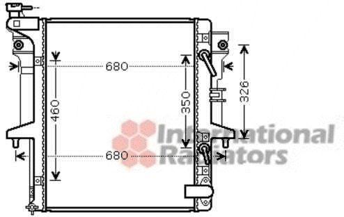 Radiateur, refroidissement du moteur - VAN WEZEL - 32002204