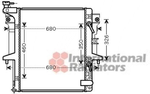 Radiateur, refroidissement du moteur - VWA - 88VWA32002205