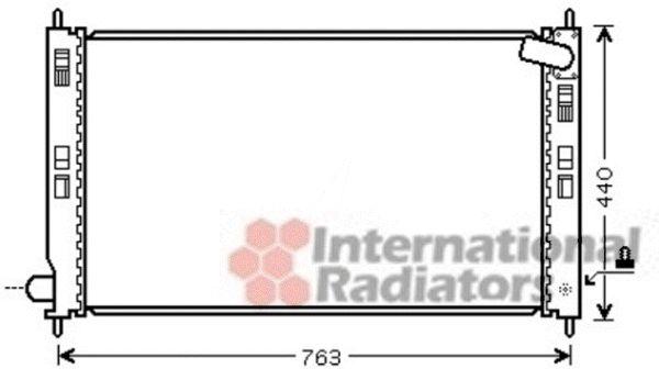 Radiateur, refroidissement du moteur - VAN WEZEL - 32002207
