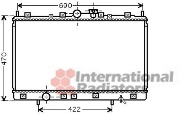 Radiateur, refroidissement du moteur - VAN WEZEL - 32002208