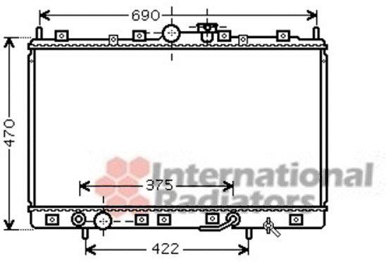 Radiateur, refroidissement du moteur - VAN WEZEL - 32002209