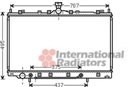 Radiateur, refroidissement du moteur - VAN WEZEL - 32002217