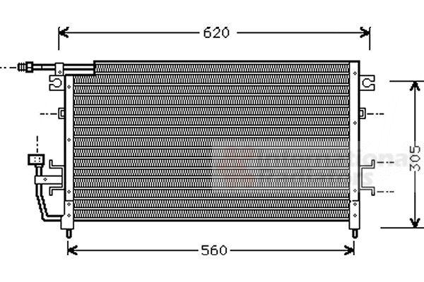 Condenseur, climatisation - VWA - 88VWA32005096