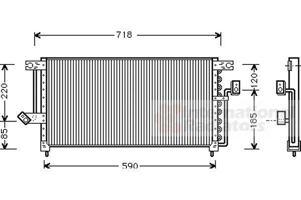 Condenseur, climatisation - VAN WEZEL - 32005098