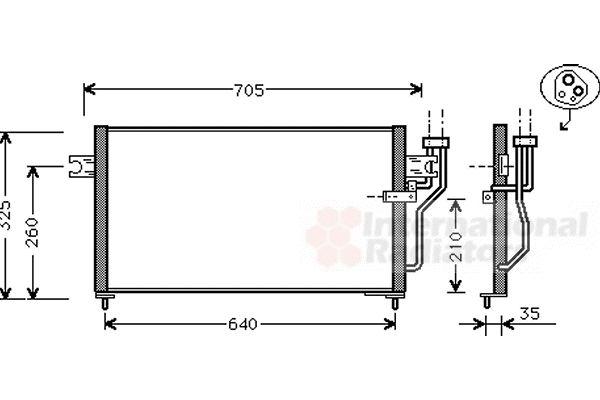 Condenseur, climatisation - VAN WEZEL - 32005105