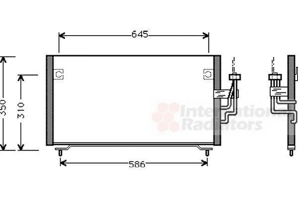 Condenseur, climatisation - VAN WEZEL - 32005106