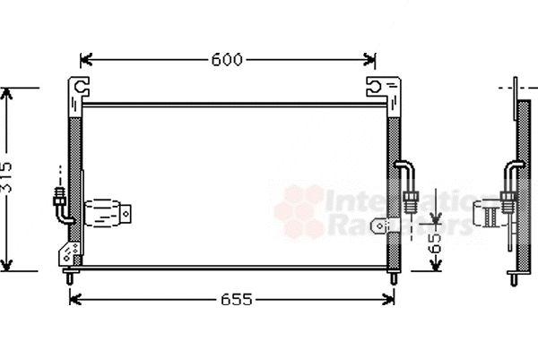Condenseur, climatisation - VAN WEZEL - 32005115