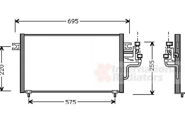 Condenseur, climatisation - VWA - 88VWA32005119
