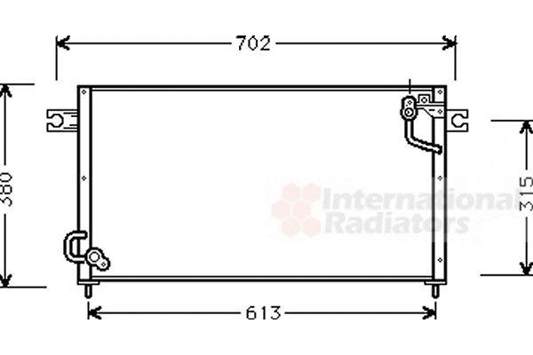 Condenseur, climatisation - VAN WEZEL - 32005124