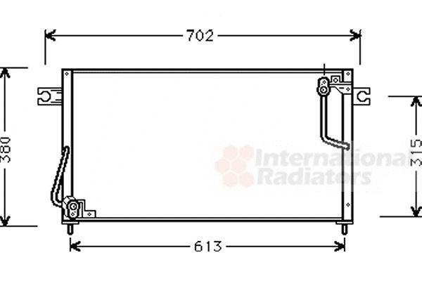 Condenseur, climatisation - VAN WEZEL - 32005146
