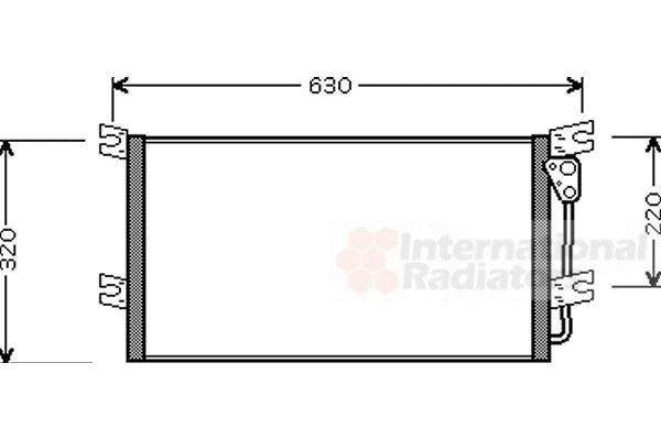Condenseur, climatisation - VAN WEZEL - 32005154