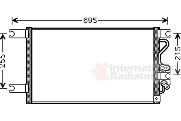Condenseur, climatisation - VAN WEZEL - 32005206