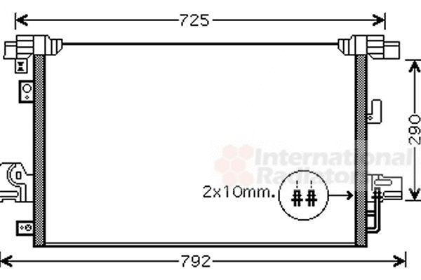 Condenseur, climatisation - VAN WEZEL - 32005210