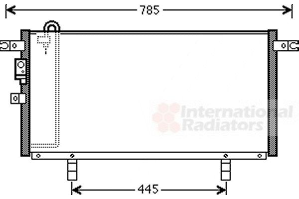 Condenseur, climatisation - VAN WEZEL - 32005211