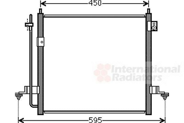 Condenseur, climatisation - VAN WEZEL - 32005218