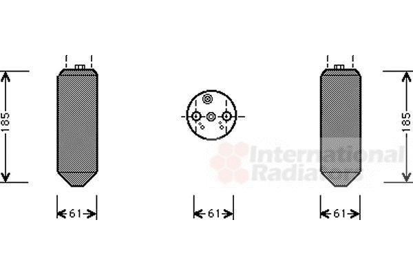 Filtre déshydratant, climatisation - VAN WEZEL - 3200D151