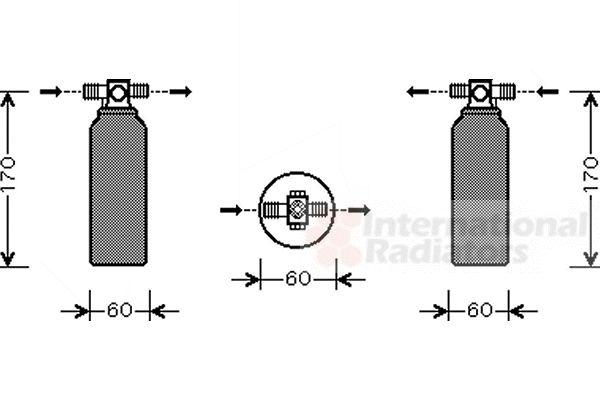 Filtre déshydratant, climatisation - VAN WEZEL - 3200D155