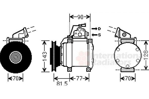 Compresseur, climatisation - VAN WEZEL - 3200K216