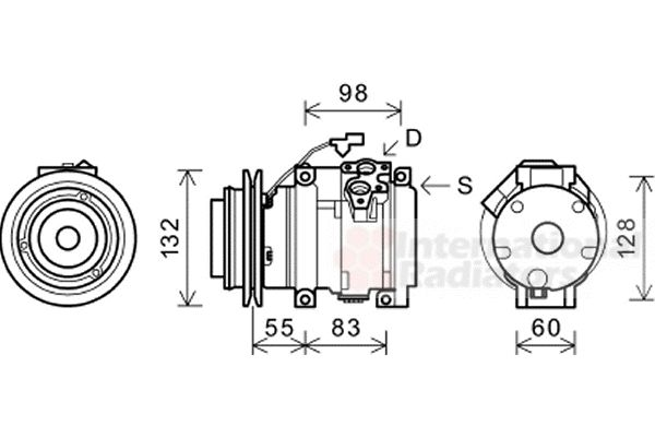 Compresseur, climatisation - VAN WEZEL - 3200K219