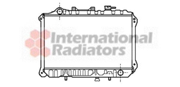 Radiateur, refroidissement du moteur - VAN WEZEL - 27002010