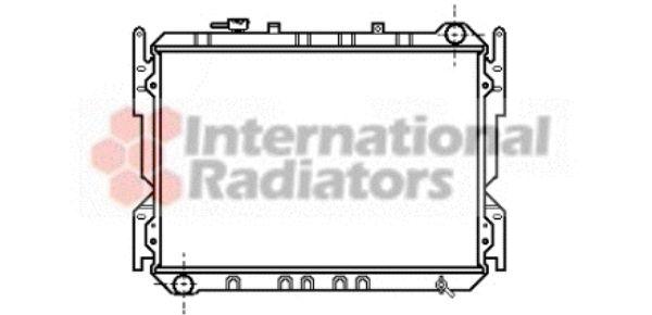 Radiateur, refroidissement du moteur - VAN WEZEL - 27002013
