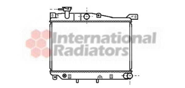Radiateur, refroidissement du moteur - VAN WEZEL - 27002015
