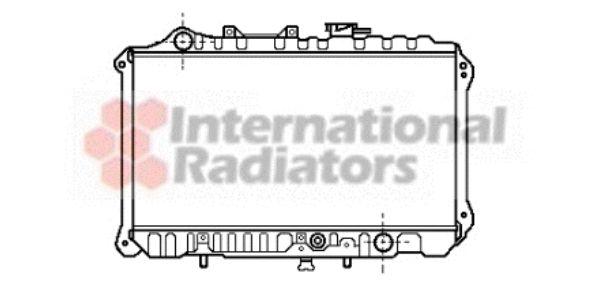 Radiateur, refroidissement du moteur - VAN WEZEL - 27002019