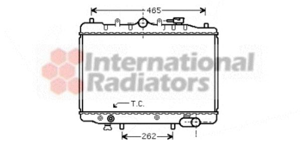 Radiateur, refroidissement du moteur - VWA - 88VWA27002024