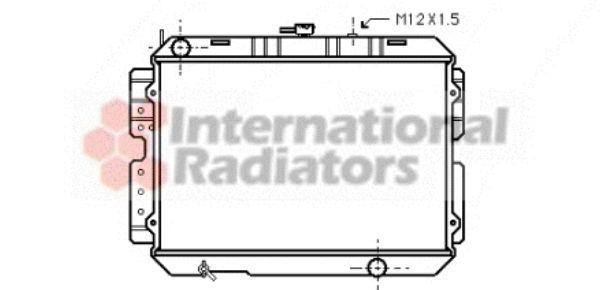 Radiateur, refroidissement du moteur - VAN WEZEL - 27002026