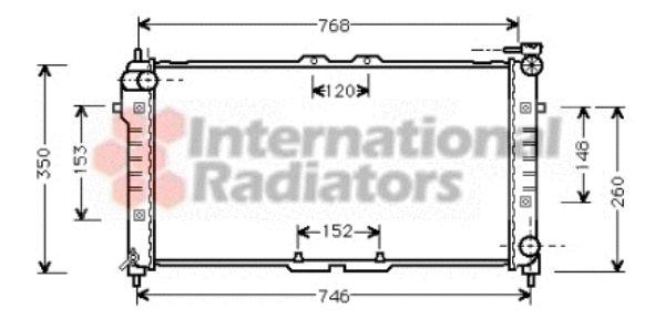 Radiateur, refroidissement du moteur - VAN WEZEL - 27002027