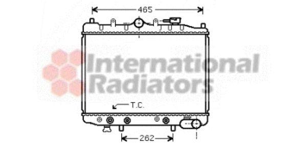 Radiateur, refroidissement du moteur - VAN WEZEL - 27002028