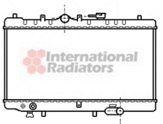 Radiateur, refroidissement du moteur - VAN WEZEL - 27002030
