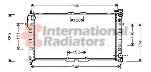 Radiateur, refroidissement du moteur - VAN WEZEL - 27002037