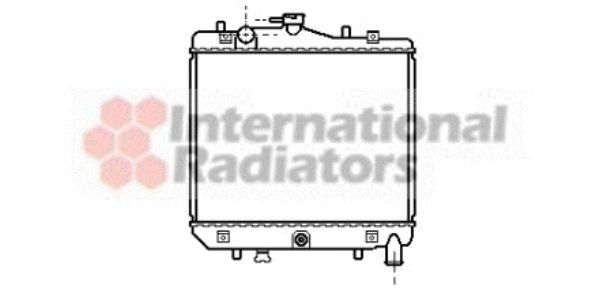 Radiateur, refroidissement du moteur - VAN WEZEL - 27002042