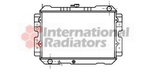 Radiateur, refroidissement du moteur - VAN WEZEL - 27002043