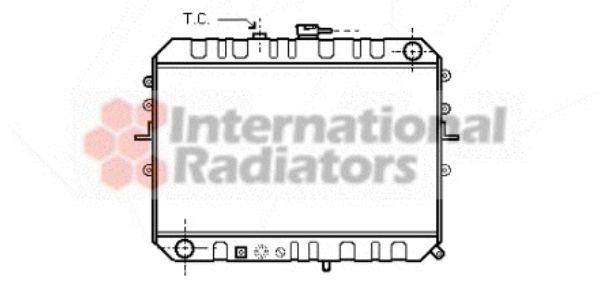 Radiateur, refroidissement du moteur - VAN WEZEL - 27002045