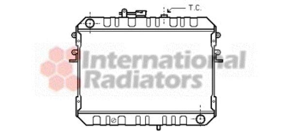 Radiateur, refroidissement du moteur - VAN WEZEL - 27002046