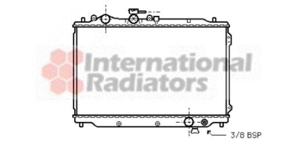 Radiateur, refroidissement du moteur - VAN WEZEL - 27002048