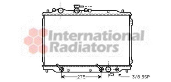 Radiateur, refroidissement du moteur - VAN WEZEL - 27002049