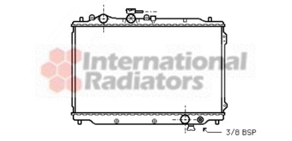 Radiateur, refroidissement du moteur - VAN WEZEL - 27002050