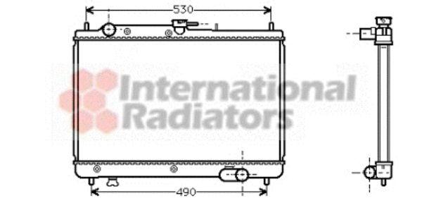 Radiateur, refroidissement du moteur - VAN WEZEL - 27002066