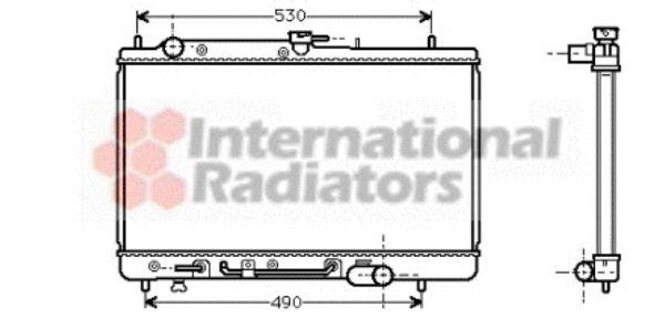 Radiateur, refroidissement du moteur - VAN WEZEL - 27002068