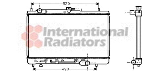 Radiateur, refroidissement du moteur - VWA - 88VWA27002068