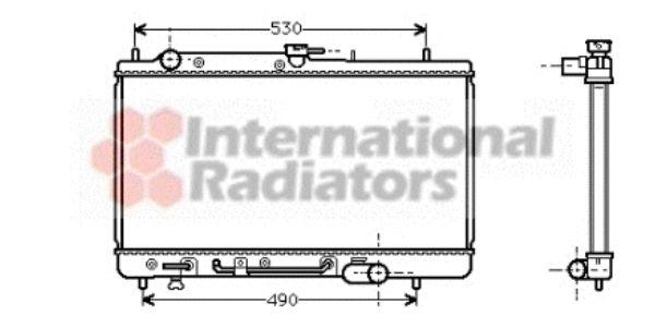 Radiateur, refroidissement du moteur - VAN WEZEL - 27002069