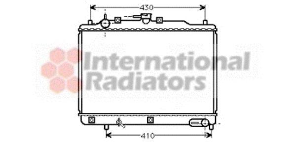 Radiateur, refroidissement du moteur - VAN WEZEL - 27002070