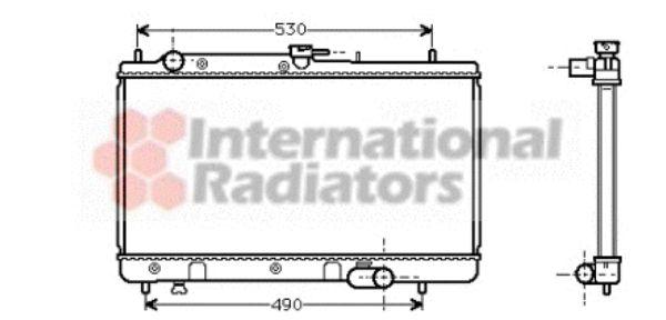 Radiateur, refroidissement du moteur - VAN WEZEL - 27002071