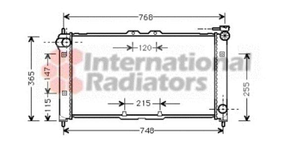 Radiateur, refroidissement du moteur - VAN WEZEL - 27002072